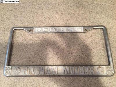 Bingham Motors License Plate Frame