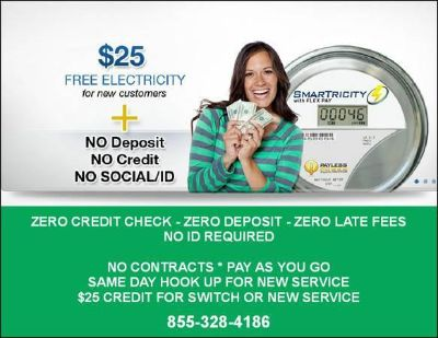 Limited Time Free Power For Life No Deposit Electricity No Credit Check