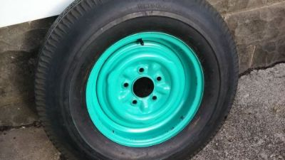 Find 1957 Chevy Original Spare wheel, and Tire and hubcap .Nice condition. motorcycle in Melvindale, Michigan, United States, for US $200.00
