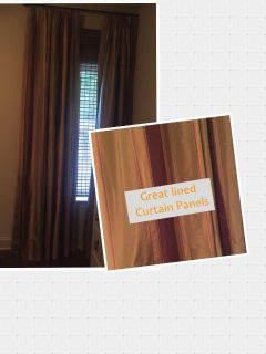 Heavily Lined Curtain Panels - Super Nice Quality- Welcome to look at in person