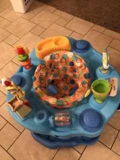 EUC exersaucer smoke free home ppu