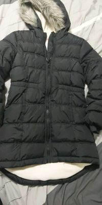 Old Navy girls long puffer coat 6-7