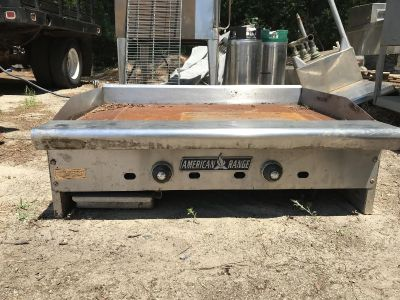American Range stainless steel flattop gas grill