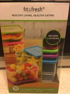 New in box 10 pc portion containers