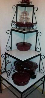 4 Tier Metal and Marble Corner Shelf
