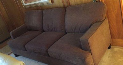 Brown Fabric Sofa / Couch