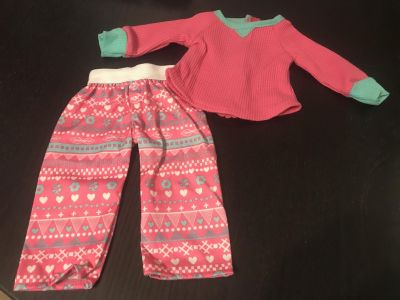 Adorable Doll Pajama Set for 18 Dolls Excellent Condition $5.00