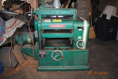 Powermatic Planer w/ grinding attachment, 18 in.