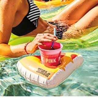 PINK Inflatable pizza with cup