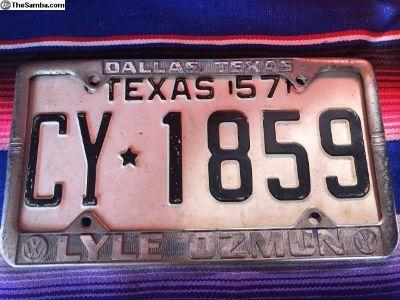 Lyle Ozmun Dallas Texas VW Dealership Plate Frame