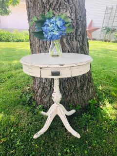 Restyled Antique Accent Table~