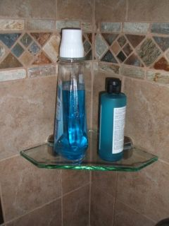 Tempered Glass Shelf with Adjustable Shelf Bracket