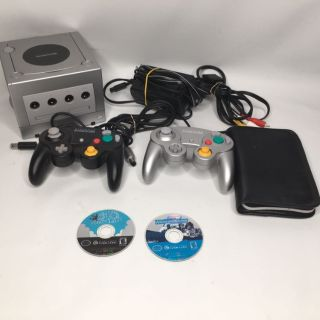 Nintendo GameCube bundle with 2 controllers Super Mario Sunshine cables and 1 other game