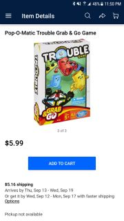 Grab and go trouble game