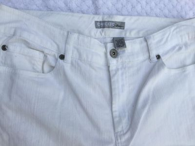 CHICO s White Jeans size is 1.5