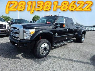 2016 Ford F450 4x4 Super Crew Platinum Dually  BLACK Nav  Sunroof