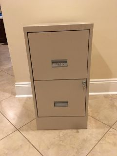 Two Drawer Letter Size File Cabinet in Excellent Condition