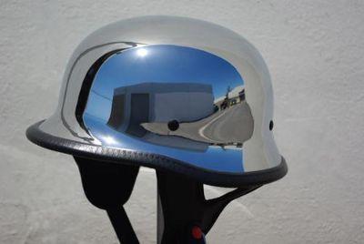 Buy XS S M L XL PGR B09 CHROME German Motorcycle DOT Half Helmet Harley Bike Chopper motorcycle in La Verne, California, US, for US $12.50