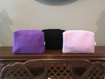 New Set of Three Spa Waffle Weave Make-up Bags