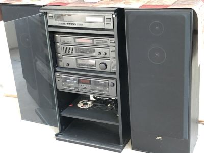 JVC stereo system with surround sound