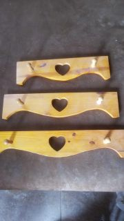 3 wooden wall hangers $5 for all