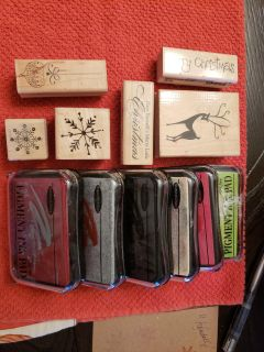 Christmas Rubber Stamps & Ink Pads