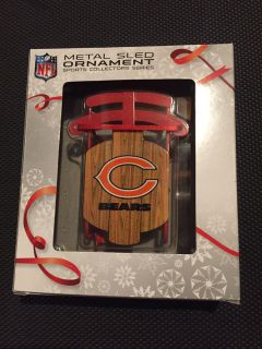 Chicago Bears Sleigh Ornament. Brand New in package.