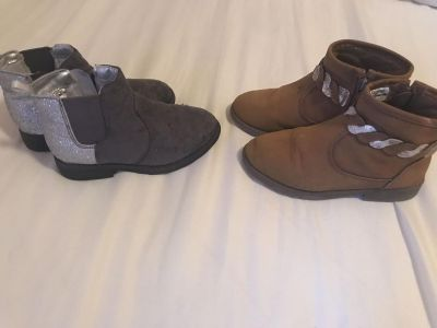 (2 pair) Carters Girls Boots - Size 10