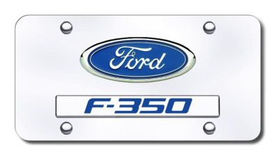 Sell Ford Dual Ford-F350 Chrome on Chrome License Plate Made in USA Genuine motorcycle in San Tan Valley, Arizona, US, for US $38.64