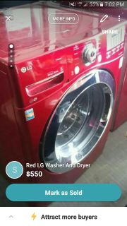 Red LG Washer And Dryer (Cross Posted)