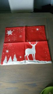 Holiday throw pillow sleeve