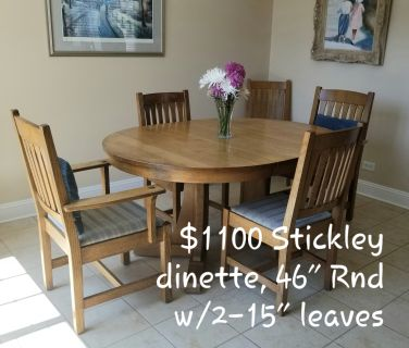 Stickley oak dinette