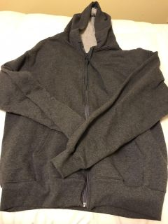 Champion hooded sweatshirt. Barely worn. Size large. Excellent condition.