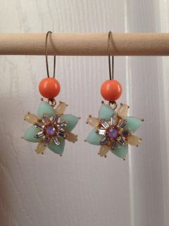 Plunder Earrings- Mint and Coral