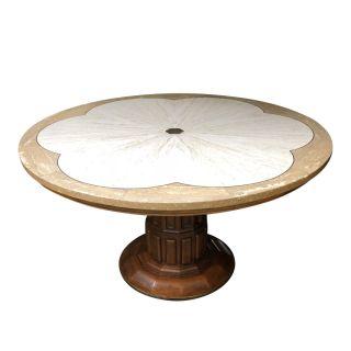John Widdicomb Travertine Top Center Table