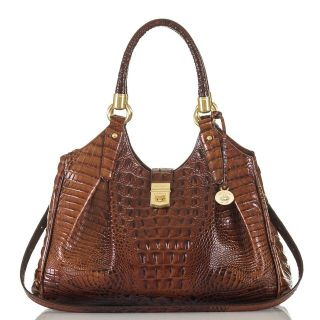 ***BRAHMIN Luxury Melbourne Collection Elisa Crocodile-Embossed Hobo Bag***