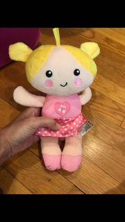 Soft girl doll with sounds