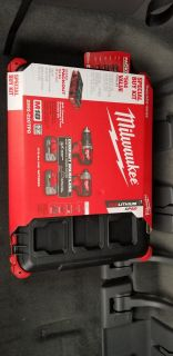 Milwaukee Compact Brushless Drill @ Impact Driver Set Red Lithium CP20