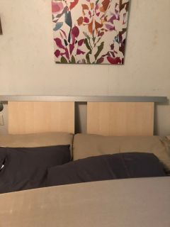 Queen size bed and 2 nightstands. Mattresses not included. pickup in Angleton