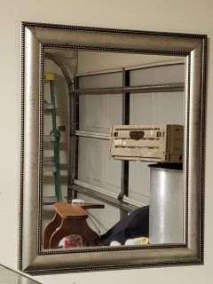 Silver Frame Mirror......Just The Mirror.... Lol..