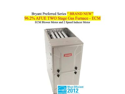 Bryant 96.2% AFUE 2 Stage Gas Furnace Brand New Forced Air Furnace ECM $ 1999