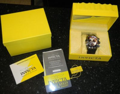 Mens INVICTA Lupah Revolution Chronograph Brown / Black Wrist Watch
