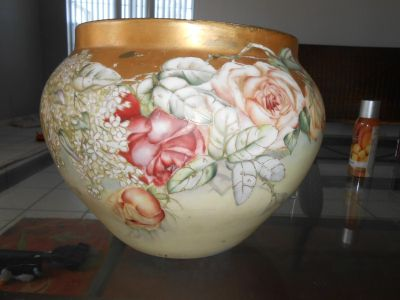 large Limoges jardiniere by Delinieres and Company