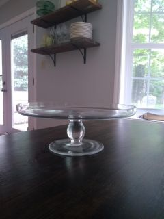 Pretty glass footed cake stand
