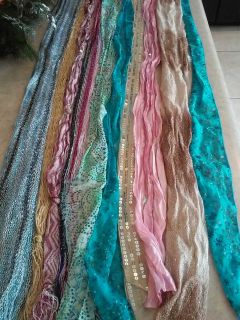 Lot of 10 Girl's Scarf Belts Size Small to Large All for only $2.00