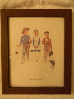 "framed ""young man's fancy"" norman rockwell"