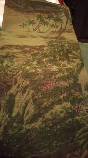 Upholstery weight tropical print