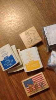 Stamping pads rubber stamps, card and scrap booking supplies