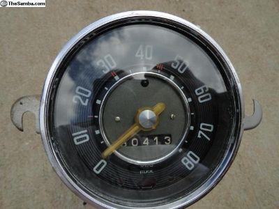 Volkswagen Beetle 0-80 Speedometer 2-59