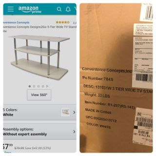 3 tier TV STAND Brand New In Box